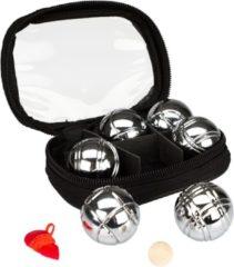 Zilveren Get & Go Mini Jeu De Boules Set 6 Ballen Chroom