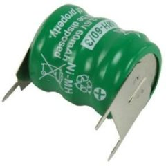 Groene HQ NIMH-60/3 Nikkel-Metaalhydride (NiMH) 60mAh 3.6V oplaadbare batterij/accu