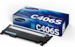 Blauwe Samsung CLT-C406S Origineel Cyaan 1 stuk(s)