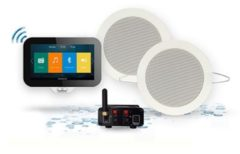 Douche Concurrent Controller Aquasound N Joy Music Center met Lader en Twist Plus Minibox