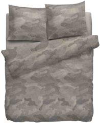 Bruine Heckettlane Heckett & Lane Douglas - Flanel - Dekbedovertrek - Lits-jumeaux - 240x200/220 cm + 2 kussenslopen 60x70 cm - Taupe
