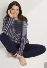 Hessnatur Damen Frottee-Sweatshirt aus Bio-Baumwolle – blau – Größe 44