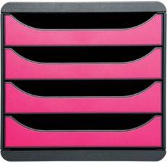 Exacompta 310784D Ladenkastje 4 lades Big Box Grijs framboos A4+