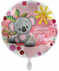 Everloon - Folieballon - Welkom Kleine Meid - 43cm - Voor Geboorte Baby Meisje