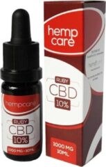 Hempcare - CBD Oil Drops - RUBY 10% CBD olie - 10ml - Full Spectrum - Biologisch Hennepzaad