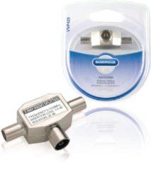 Zilveren Bandridge Antenna Splitter 2x Coax 1x Coax Chroom