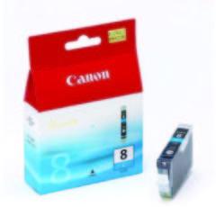 Canon inktcartridge CLI-8, 420 pagina's, OEM 0621B028, met beveiligingsysteem, cyaan