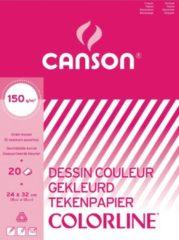 Canson tekenblok 150g/m² formaat A3 20 vel assortiment kleuren