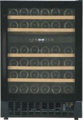Zwarte Caviss CLEN246TBE4 - Wijnkoelkast 2 zones - 45 Flessen - Ook onderbouw