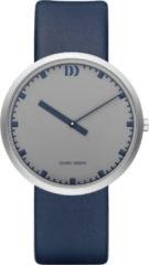 Zilveren Danish Design watches edelstalen herenhorloge Long Hour Grey Blue IQ22Q1212