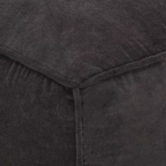 Antraciet-grijze VidaXL Poef 40x40x40 cm katoenfluweel antraciet