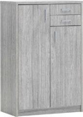 Rousseau Commode Spacio 2 deuren & 2 laden H 110cm - grijze eik
