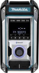 Blauwe Makita DMR114 Bouwradio Bluetooth Bass subwoofer 10,8 - 18 Volt / 230 V