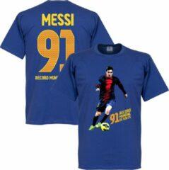 Retake Messi 91 World Record Goals T-shirt - Blauw - 4XL