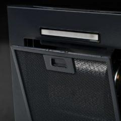 VidaXL Wandafzuigkap 756 m³/u 60 cm roestvrij staal zwart
