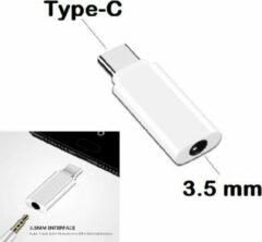 Best 3.5mm Jack Koptelefoon Wit Kabel Type-C naar USB C naar 3.5 Mm AUX Hoofdtelefoon Adapter voor Huawei Mate 20 lite P20 Pro Htc voor Xiao mi mi