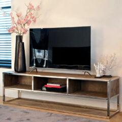 Richmond Interiors Richmond TV-meubel 'Maddox' Hout en Staal, 180cm