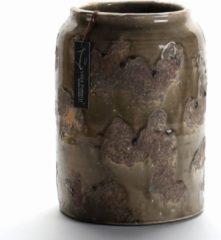Villa Pottery Bruin Groene Pot - Zurich - Zurich Aarde Bruin/Groene Pot - Vaas 13,5 x 13,5 x 16,5 CM