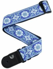 D'Addario 50PCLV04 gitaarband peace and love blauw met wit
