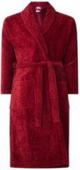 Bordeauxrode Vandyck Prestige badjas van katoenvelours