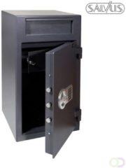 Grijze Salvus Monopoli 2 Elektronische kluis - Kassa- en afstortkluis - 70 kg