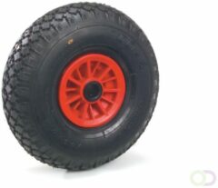 Fetra PU-geschuimd wiel 260 x 85 mm, Kunststof velg - rood