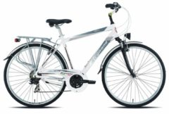 28 Zoll Legnano Amalfi Herren Trekking Fahrrad Aluminium 21-Gang Legnano weiß-silber