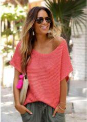 Rode LASCANA trui met korte mouwen