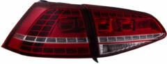 Rode Universeel Set Full-LED Achterlichten Volkswagen Golf VII 3/5-deurs 2012- - Rood/Smoke - incl. Weerstand