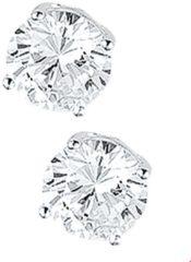 Transparante Huiscollectie TFT Oorknoppen Zirkonia Zilver Glanzend 9mm