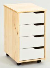 Home affaire Rollcontainer »Matheo« mit vier Schubladen, Breite 37 cm