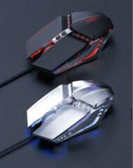 Zilveren Imice T80 Custom Macro USB Bedrade Gaming Muis Computer Gaming 3200 DPI Optische Muizen Laptop PC Gaming Muis Ademhaling Licht