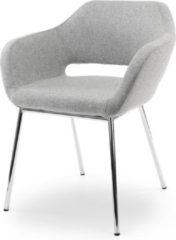 Grijze SKEPP RoomForTheNew Conferentiestoel F80- Vergaderstoel - Conferentiestoel - luxe stoel - stoel - vergaderen - eetkamerstoel - conferentie stoel - vergader stoel