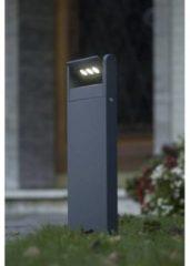 Antraciet-grijze LUTEC mini spot | LED | hoogte 53 cm | kantelbare spot | 9 watt | 605 lumen | 4000 K | aluminium | antracietgrijs