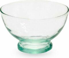 Naturelkleurige Household Hardware Glazen kommen - S - recyceled glas - mondgeblazen - set van vier