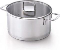 Grijze Kitchenfun Kitchen Fun Mambo Kookpot D20cm 2.5lglazen Deksel - Alle Vuren