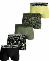 Groene Bjorn Borg Boys Shorts Sammy Fourflower 2121-1104/81421-146/152