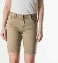 Taupe Dames korte broek Dames Outdoorbroek Maat 34