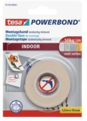 Tesa 55740-00001-00 Montagetape tesa POWERBOND Wit (l x b) 1.5 m x 19 mm 1 rol/rollen