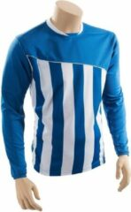 Precision Voetbalshirt Precision Jr Polyester Blauw/wit Maat M
