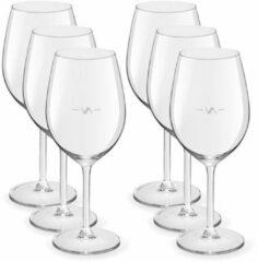 Transparante Merkloos / Sans marque 6x Wijnglazen voor rode wijn 530 ml Esprit - 53 cl - Rode wijn glazen met maatstreep - Wijn drinken - Wijnglazen van glas