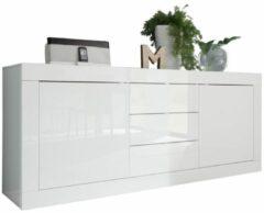 Pesaro Mobilia Dressoir Tonic 210 cm - Hoogglans wit