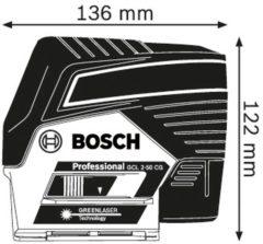 Bosch Professional GCL2-50 CG+RM2 Punt- en lijnlaser Zelfnivellerend Reikwijdte (max.): 20 m Kalibratie conform: Fabrieksstandaard (zonder certificaat)