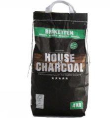 Zwarte House of Charcoal 100% FSC Premium Briketten - 4 Kg