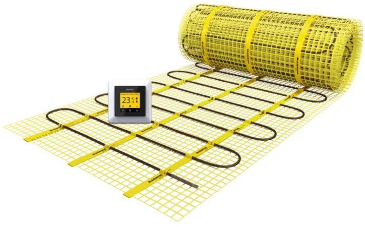 Afbeelding van Gele Magnum Millimat elektrische vloerverwarming 1050 watt, 7,0 m2 met klokthermostaat 201405