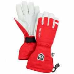 Hestra - Army Leather Heli Ski 5 Finger - Handschoenen maat 9 rood/wit