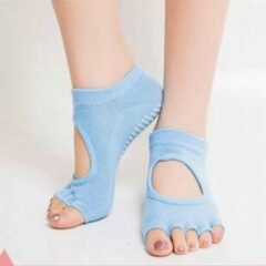 Antislip Yoga sokken 'Ballerina' - ook geschikt voor Pilates & Piloxing - meerdere kleuren - lichtblauw - Pilateswinkel
