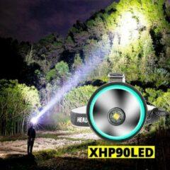Zwarte Led-hoofdlamp 24000 lumen 5000 het krachtigste professionele oplaadbare zoeklicht wat verkrijgbaar is van Alight XHP 90.2 PROFESSIONAL-XLED