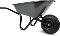 Kunststof speelgoed kruiwagen antraciet 60 cm voor kinderen - Buitenspeelgoed - Kindertuingereedschap
