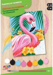 Sequin Art Schilderen op Nummer Flamingo